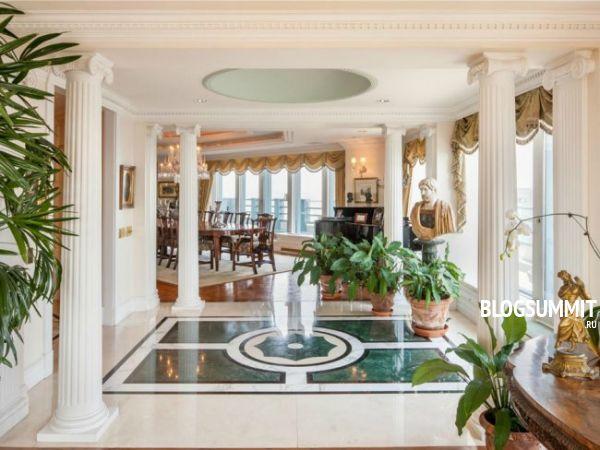 Богатая отделка самой дорогой квартиры