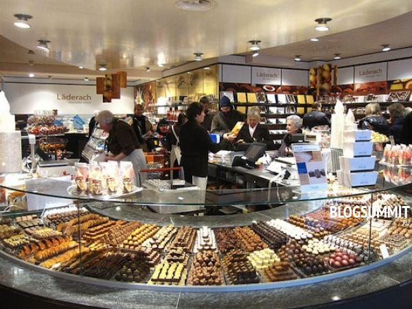 Дорогие магазины шоколада в Цюрихе