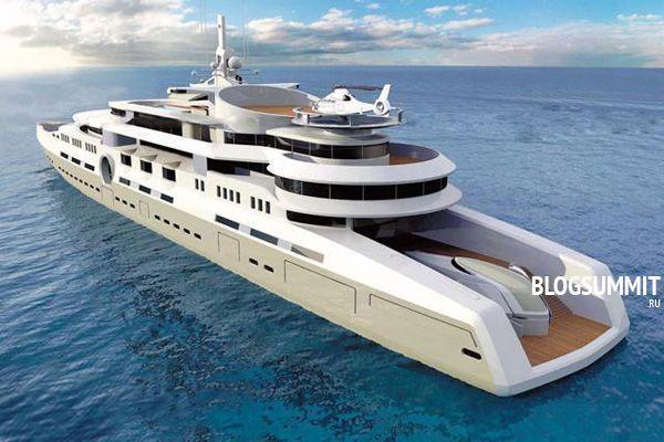 Супер оснащенная яхта