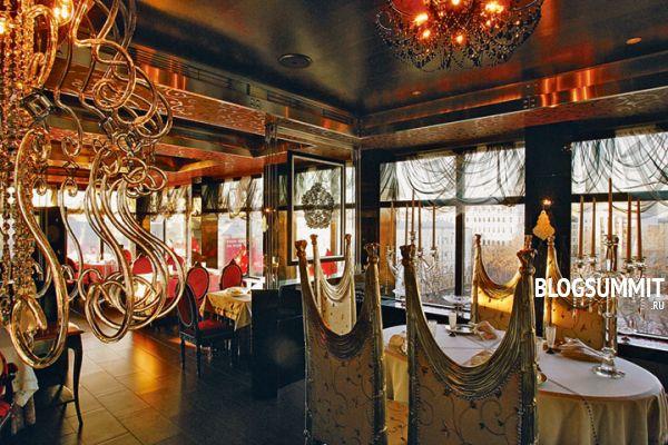 Изысканный интерьер самого дорогого ресторана Москвы