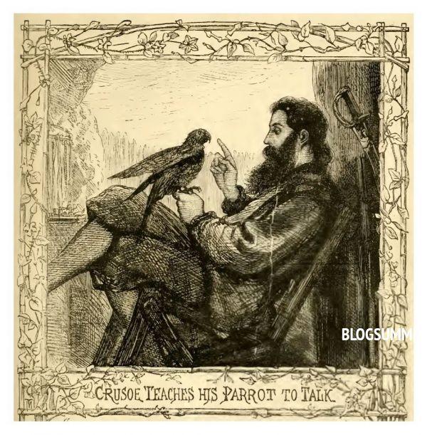 Изображение пятнадцатого столетия. Попугая учат говорить