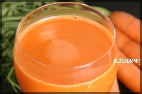 Морковный сок полезен для зубов, костей, и кожи