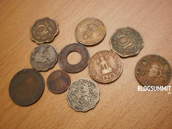 Коллекция старых индийских монет