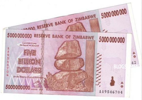 Банкнота в 50 миллиардов долларов Зимбабве