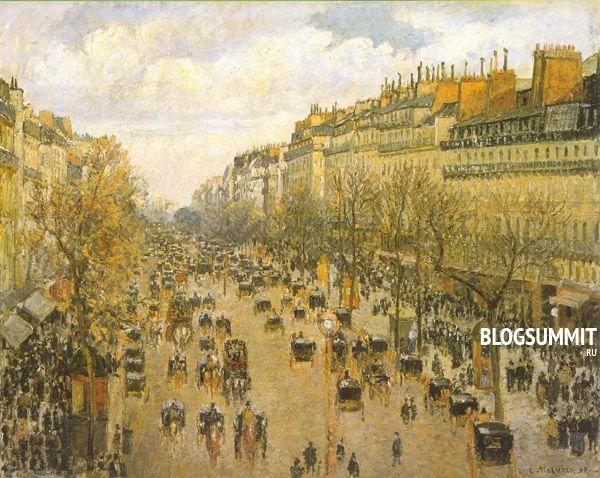 Камиль Писсарро - Бульвар Монмартр в Париже