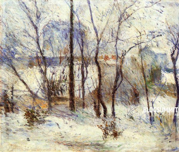 Поль Гоген. Сад в снегу