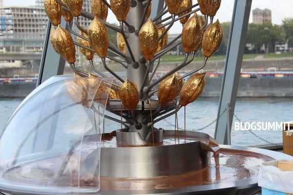 Шоколадный фонтан кельнского музея