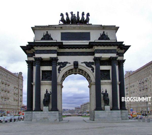 Триумфальная арка – память о 1812, Поклонная гора, Москва, Россия