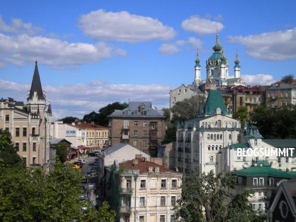 Церковь Святого Андрея воздвигнута при Екатерине Второй, Андреевский спуск, Киев, Украина