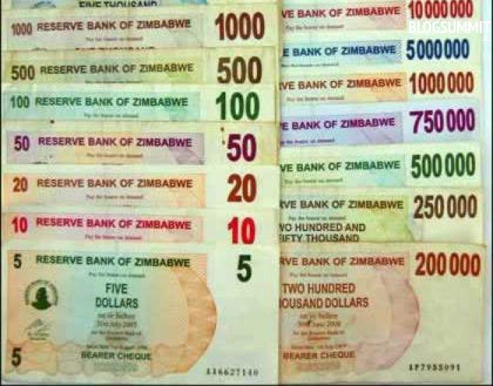 Валюта Зимбабве переживает колоссальную инфляцию